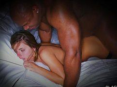 Чернокожий парень вдул бесстыжую расщелину девушки