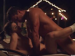 Секс на улице доставил партнерам яркие ощущения